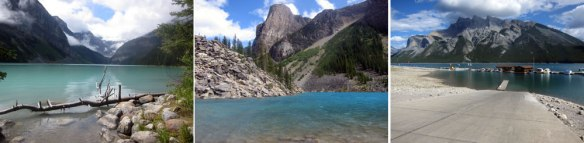 Lake Louise - Moraine Lake - Minnewaka Lake
