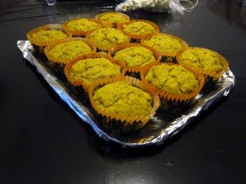 Muffin di zucca e semi di papavero