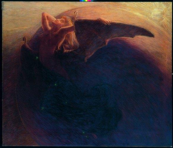 Il giorno sveglia la notte - Previati, 1905