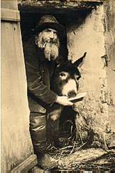 Pere Frédré e l'asino Lolo al Museo di Montmartre - Parigi