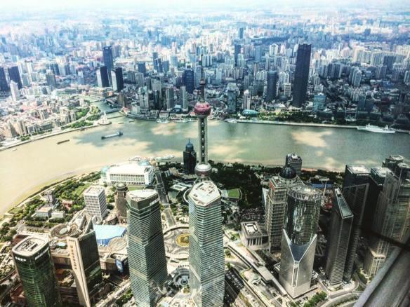 Overview dalla Shanghai Tower - Shanghai