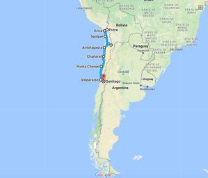 Mappa del Cile