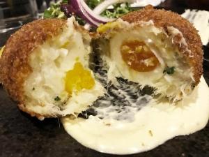 Salt Cod Scotch Egg - Fischer Bistrot in Leith
