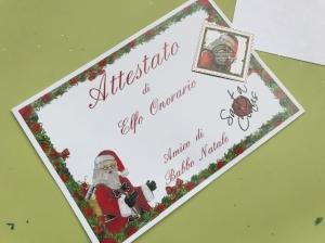 Casa di Babbo Natale Montecatini - Attestato Elfo Onorario